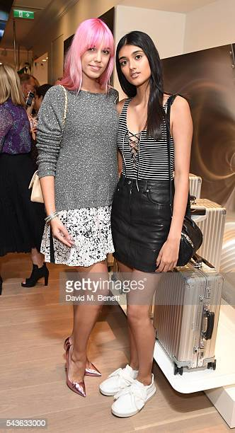 Amber Le Bon and Neelam Gill attend the RIMOWA London concept store VIP launch party on June 29 2016 in London England