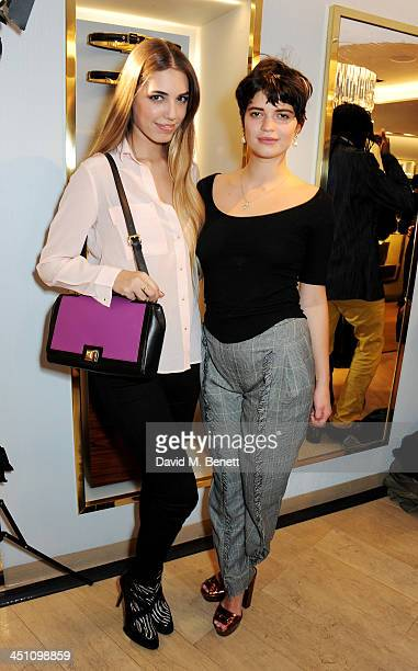 Amber Le Bon and Pixie Geldof attend the Furla flagship store reopening on November 21 2013 in London England