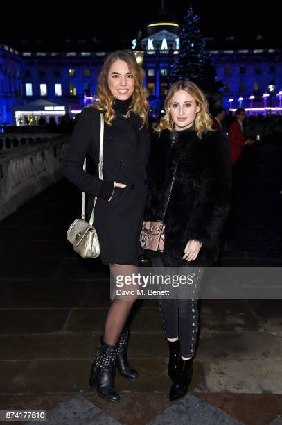 Amber Le Bon and Rosie Fortescue attend the opening party of Skate at Somerset House with Fortnum Mason on November 14 2017 in London England...