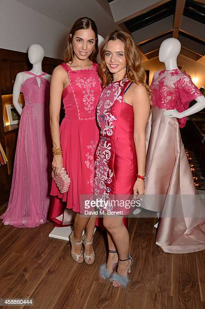 Amber Le Bon and Toujouri Creative Director Lama El Moatassem attend as evening wear label TOUJOURI presents their SS15 collection with an intimate...