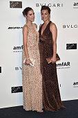 Amber Le Bon and Yasmin Le Bon attend amfAR Milano 2014 during Milan Fashion Week Womenswear Spring/Summer 2015 on September 20 2014 in Milan Italy