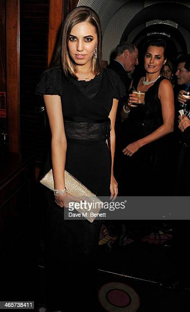 Amber Le Bon and Yasmin Le Bon attend the Charles Finch and Chanel PreBAFTA cocktail party and dinner at Annabel's on February 8 2013 in London...