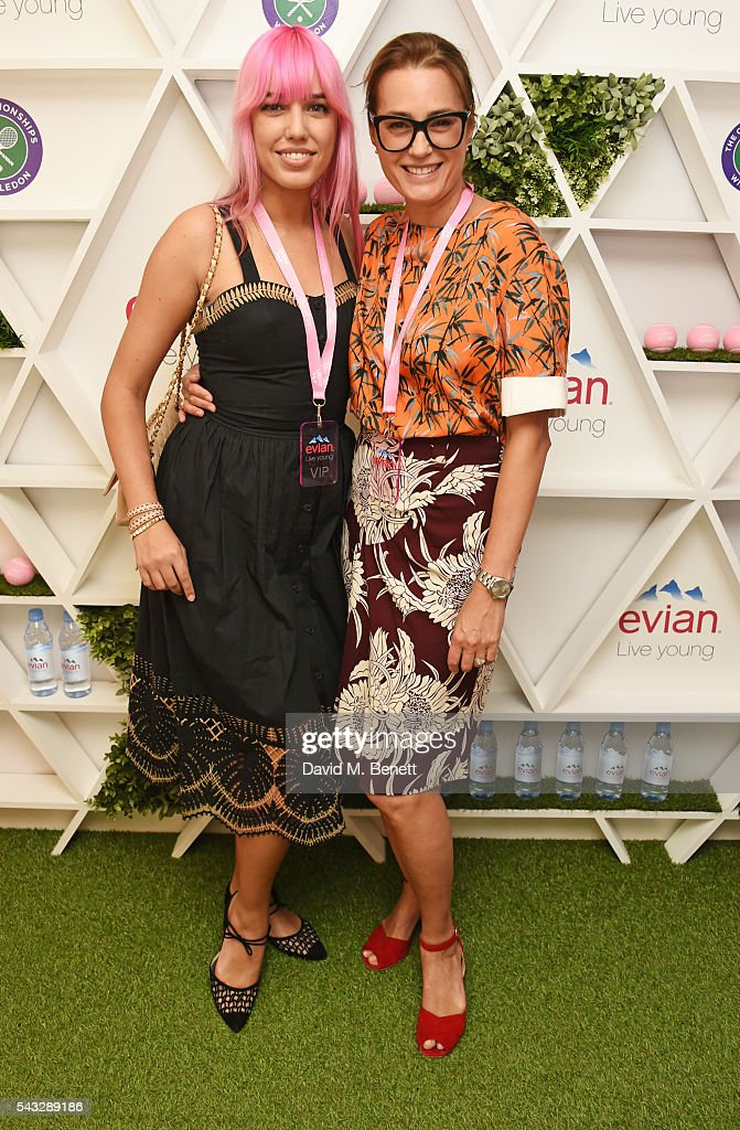 Amber Le Bon and Yasmin Le Bon attend the evian Live Young suite during Wimbledon 2016 at the All England Tennis and Croquet Club on June 27 2016 in...