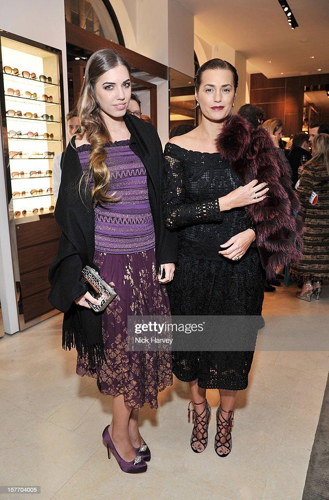 Amber Le Bon and Yasmin Le Bon attend the flagship store launch of Salvatore Ferragamo's Old Bond Street Boutique at 24 Old Bond Street on December 5, 2012 in London, England.