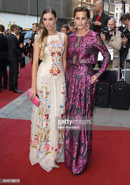 Amber Le Bon and Yasmin Le Bon attend the GQ Men of the Year awards at The Royal Opera House on September 2 2014 in London England