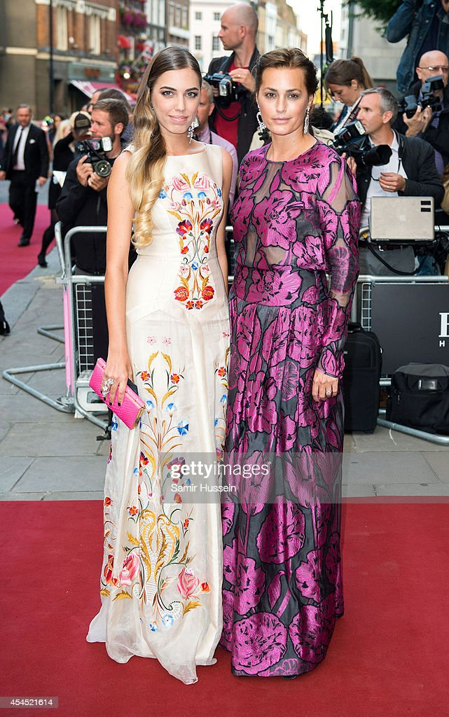 Amber Le Bon (L) and Yasmin Le Bon attend the GQ Men of the Year awards at The Royal Opera House on September 2, 2014 in London, England.