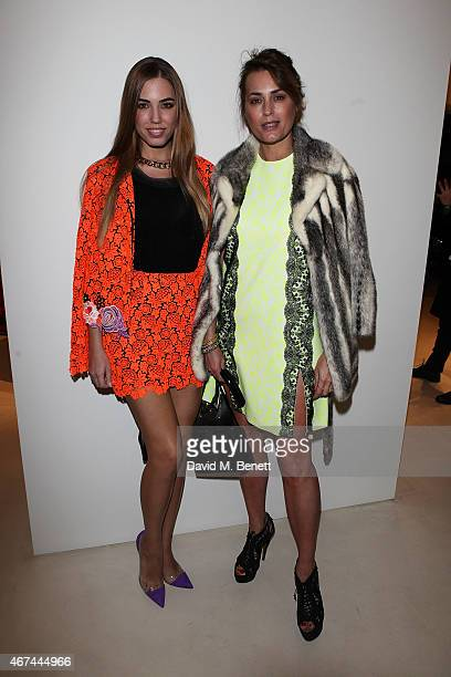 Amber Le Bon and Yasmin Le Bon attend the opening of Christopher Kane's London Flagship store on March 24 2015 in London England