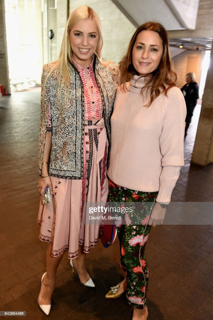 Amber Le Bon and Yasmin Le Bon attend the Roland Mouret show during the London Fashion Week February 2017 collections on February 19, 2017 in London, England.