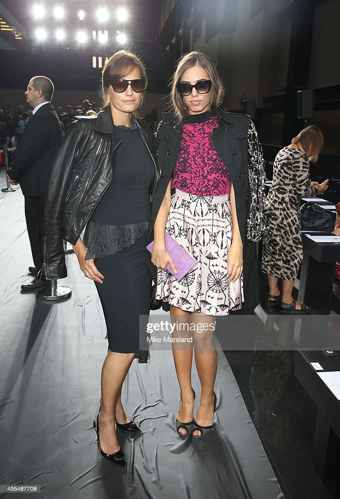 Amber Le Bon and Yasmin Le Bon attends the Christopher Kane show during London Fashion Week Spring Summer 2015 on September 15 2014 in London England