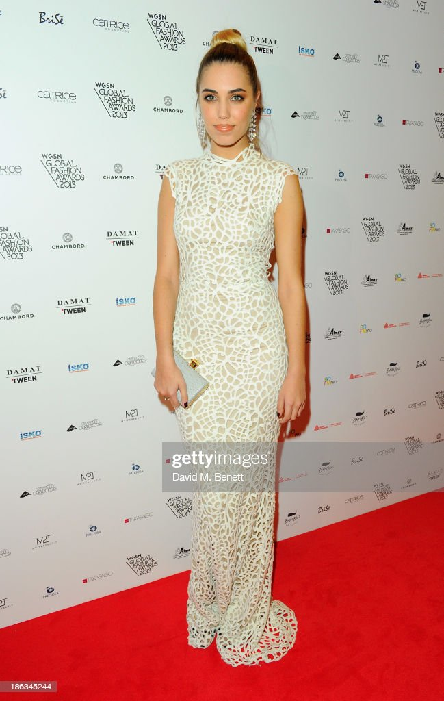 <a gi-track='captionPersonalityLinkClicked' href=/galleries/search?phrase=Amber+Le+Bon&family=editorial&specificpeople=1103030 ng-click='$event.stopPropagation()'>Amber Le Bon</a> arrives at The WGSN Global Fashion Awards at the Victoria & Albert Museum on October 30, 2013 in London, England.