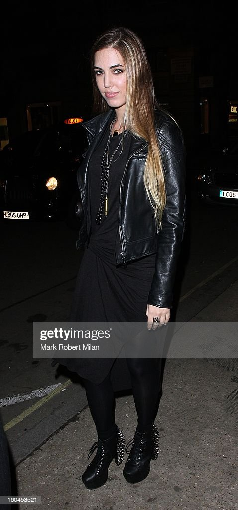 Amber Le Bon at Burberry Regent Street on January 31, 2013 in London, England.