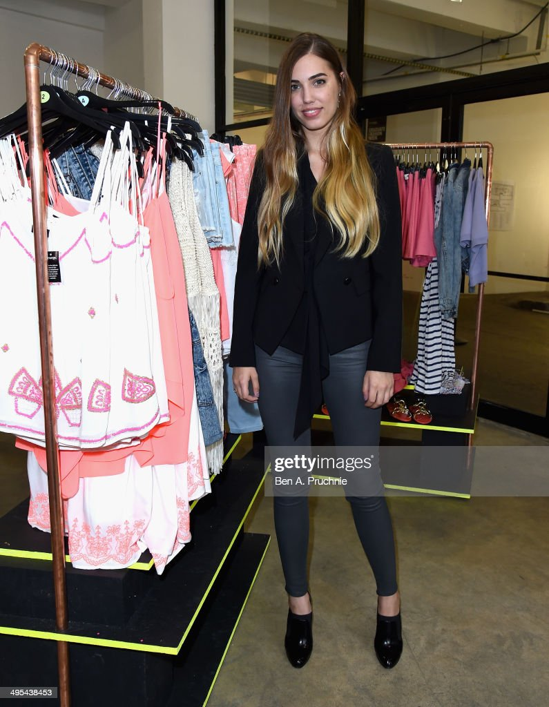 <a gi-track='captionPersonalityLinkClicked' href=/galleries/search?phrase=Amber+Le+Bon&family=editorial&specificpeople=1103030 ng-click='$event.stopPropagation()'>Amber Le Bon</a> at the George Pop up Shop, supporting Graduate Fashion Week 2014 on June 3, 2014 in London, England.