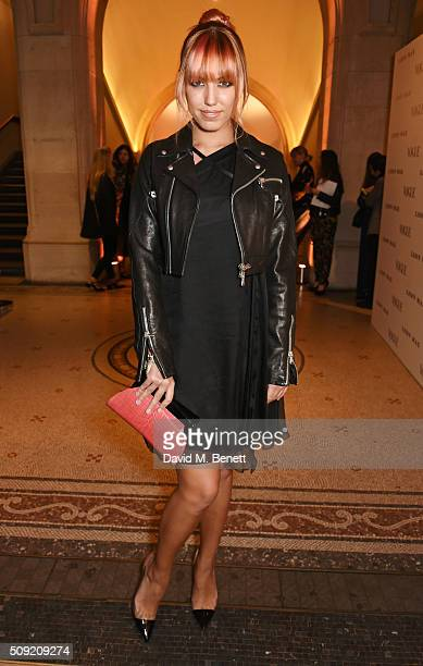 Amber Le Bon attends a private view of 'Vogue 100 A Century of Style' hosted by Alexandra Shulman and Leon Max at the National Portrait Gallery on...