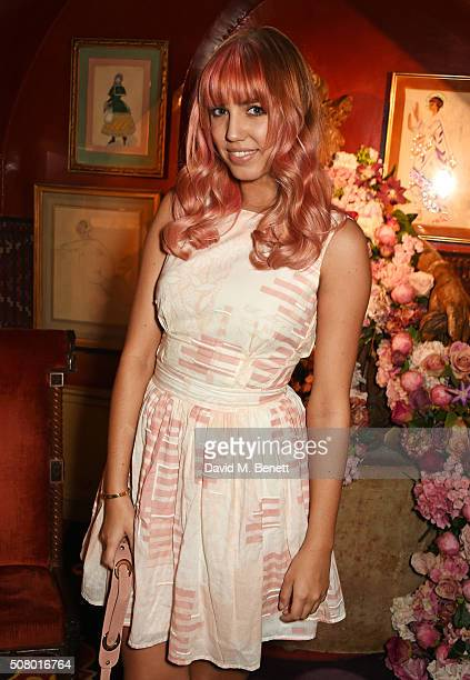 Amber Le Bon attends a VIP dinner celebrating the launch of Mrs Alice for French Sole at Annabel's on February 2 2016 in London England