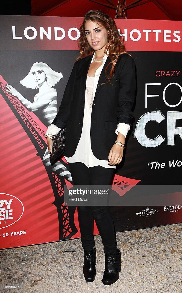 Amber Le Bon attends as Crazy Horse bring their renowned cabaret show from Paris to London at The Crazy Horse on September 19, 2012 in London, England.