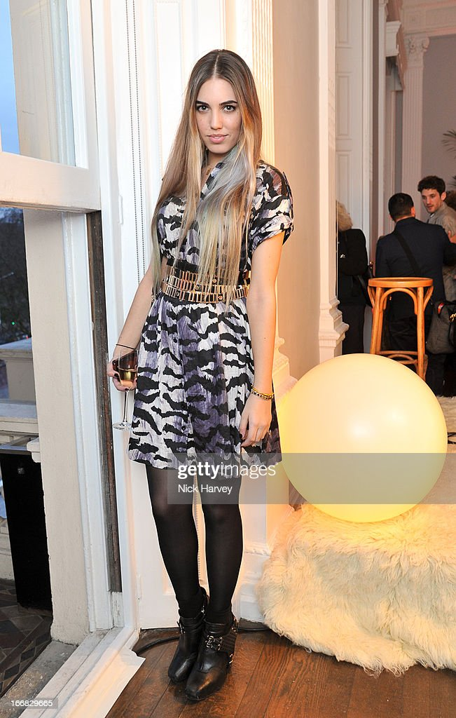 Amber le Bon attends as Molton Brown and Giles Deacon launch a collaboration at the ICA on April 17, 2013 in London, England.