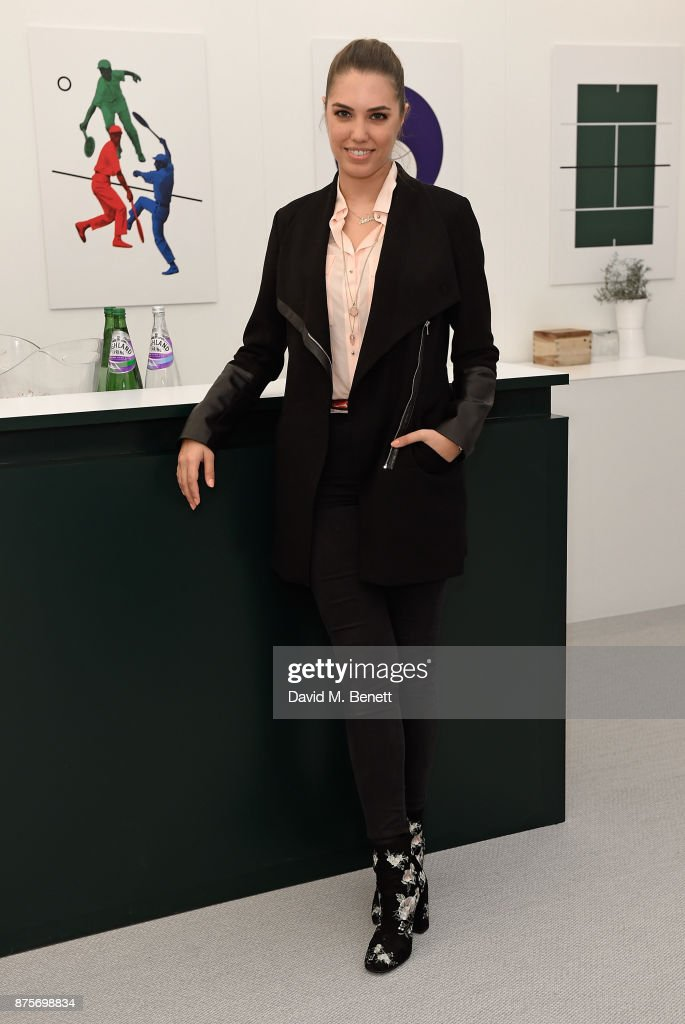 Amber Le Bon attends Lacoste VIP Lounge during 2017 ATP World Tour Semi- Finals at The O2 Arena on November 18, 2017 in London, England.