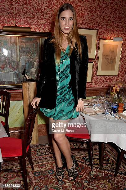 Amber Le Bon attends mytheresacom x Francesco Russo dinner at Harrys Bar on April 8 2015 in London England
