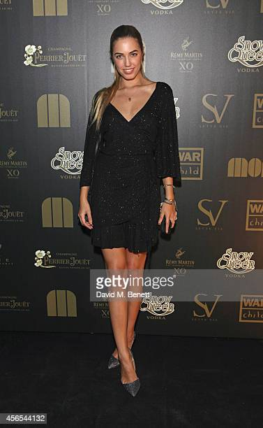 Amber Le Bon attends the 10th anniversary of Mortons in Berkeley Square Gardens on October 2 2014 in London England