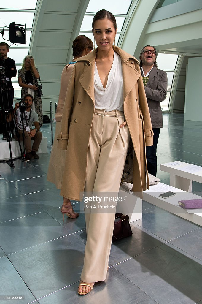 Amber Le Bon attends the Antonio Berardi show during London Fashion Week Spring Summer 2015 at on September 15 2014 in London England