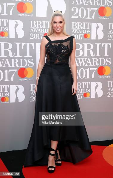 Amber Le Bon attends The BRIT Awards 2017 at The O2 Arena on February 22 2017 in London England