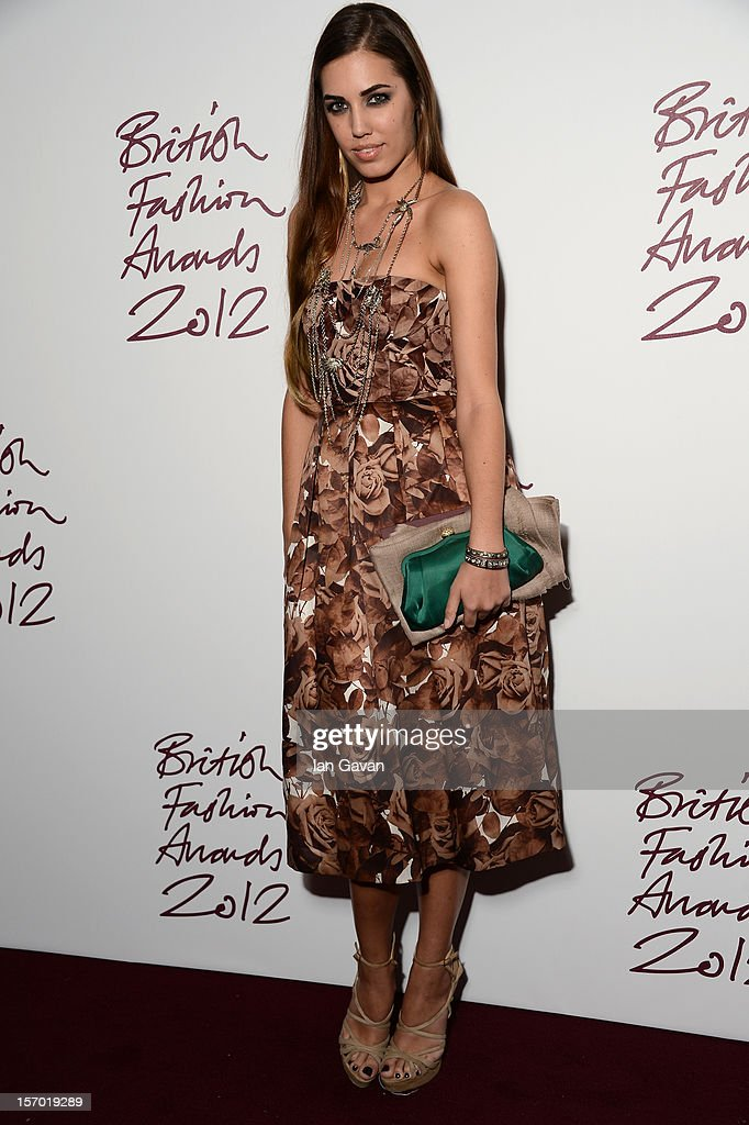 Amber Le Bon attends the British Fashion Awards 2012 at The Savoy Hotel on November 27, 2012 in London, England.
