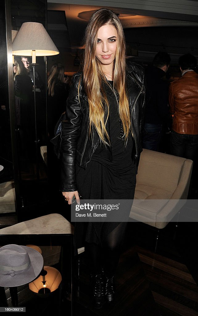 Amber Le Bon attends the Burberry Live at 121 Regent Street event on January 31, 2013 in London, England.