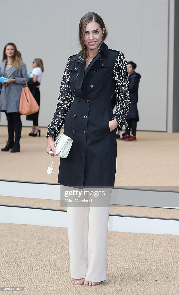 Amber Le Bon attends the Burberry Prorsum show during London Fashion Week Spring Summer 2015 at on September 15 2014 in London England
