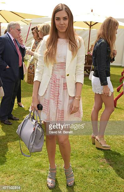 Amber Le Bon attends The Cartier Queen's Cup final at Guards Polo Club on June 14 2015 in Egham England