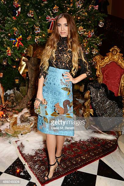 Amber Le Bon attends the Claridge's Dolce and Gabbana Christmas Tree party at Claridge's Hotel on November 19 2014 in London England