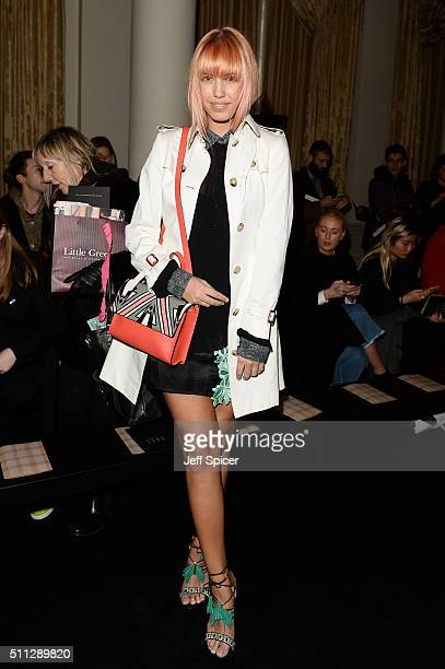 Amber Le Bon attends the DAKS show during London Fashion Week Autumn/Winter 2016/17 at The Langham Hotel on February 19 2016 in London England