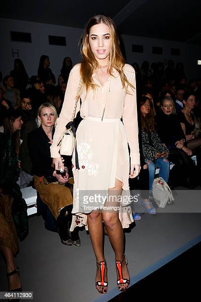 Amber Le Bon attends the David Koma show during London Fashion Week Fall/Winter 2015/16 on February 22 2015 in London England