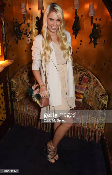 Amber Le Bon attends the Edie Campbell and Kurt Geiger Flash dinner at Loulou's on March 22 2017 in London England