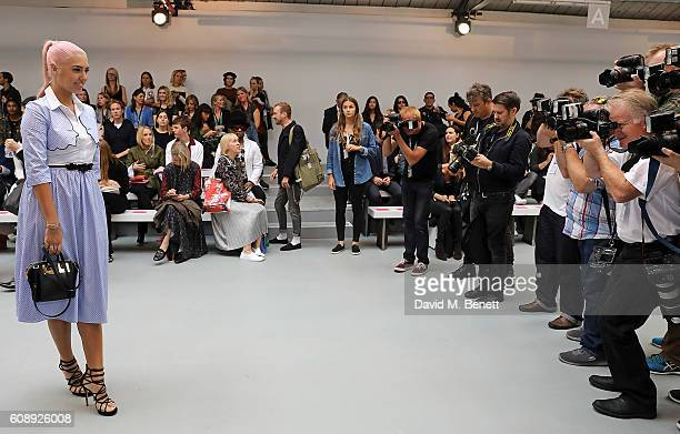 Amber Le Bon attends the Emilio De La Morena show during London Fashion Week Spring/Summer collections 2017 on September 20 2016 in London United...