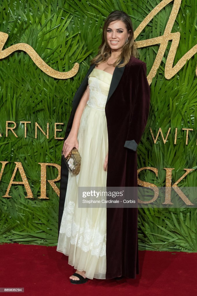 Amber Le Bon attends the Fashion Awards 2017 In Partnership With Swarovski at Royal Albert Hall on December 4, 2017 in London, England.