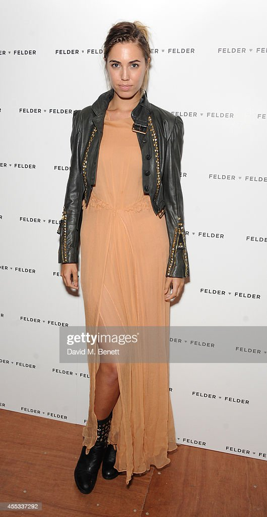 Amber Le Bon attends the Felder Felder after show party during London Fashion Week SS15 at Cafe KaiZen on September 12 2014 in London England