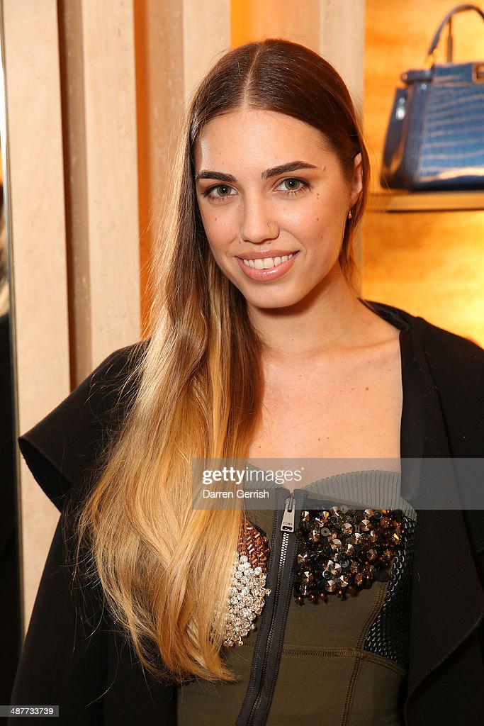<a gi-track='captionPersonalityLinkClicked' href=/galleries/search?phrase=Amber+Le+Bon&family=editorial&specificpeople=1103030 ng-click='$event.stopPropagation()'>Amber Le Bon</a> attends the Fendi Flagship store launch at Fendi on May 1, 2014 in London, England.