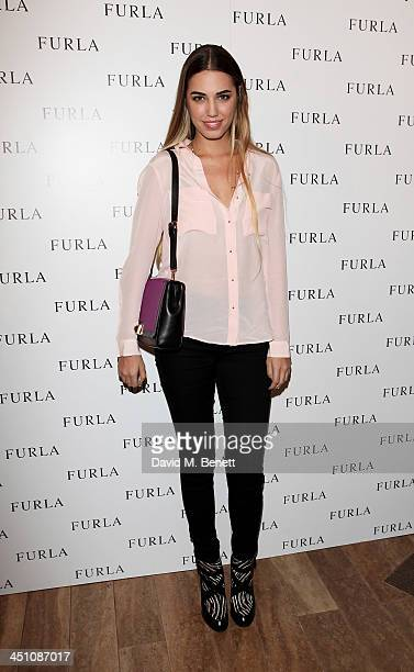 Amber Le Bon attends the Furla flagship store reopening on November 21 2013 in London England