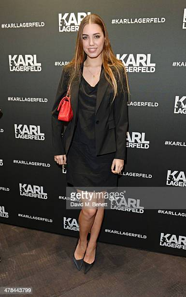 Amber Le Bon attends the Karl Lagerfeld European flagship store launch on March 13 2014 in London England