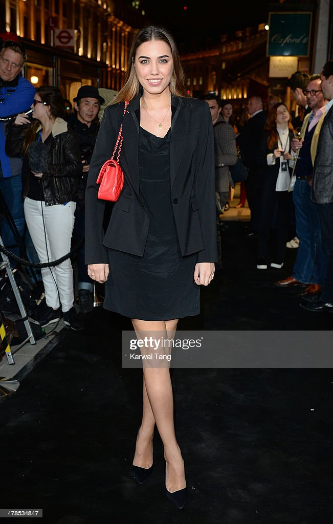 Amber Le Bon attends the Karl Lagerfeld flagship store opening at Regent Street on March 13, 2014 in London, England.