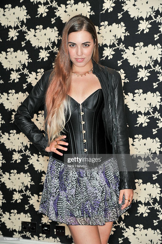 Amber Le Bon attends the launch of 'L'Agent' Campaign film by Agent Provocateur and directed by Penelope Cruz at Soho Hotel on July 31, 2013 in London, England.