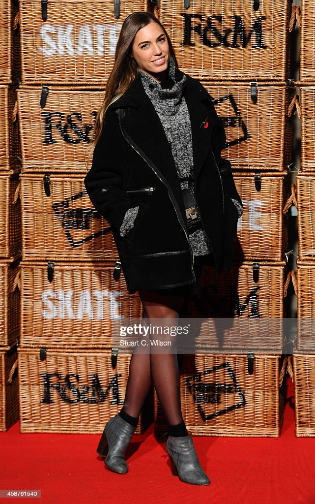 Amber Le Bon attends the launch of Skate at Somerset House on November 10 2014 in London England