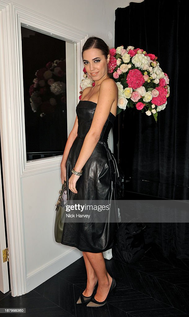 Amber Le Bon attends the opening of Dior Beauty Boutique on November 14, 2013 in Covent Garden, London, England.