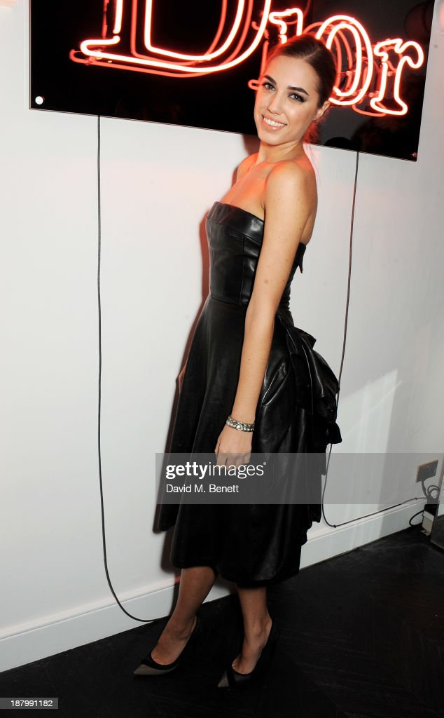 Amber Le Bon attends the opening of the Dior Beauty Boutique in Covent Garden on November 14, 2013 in London, England.