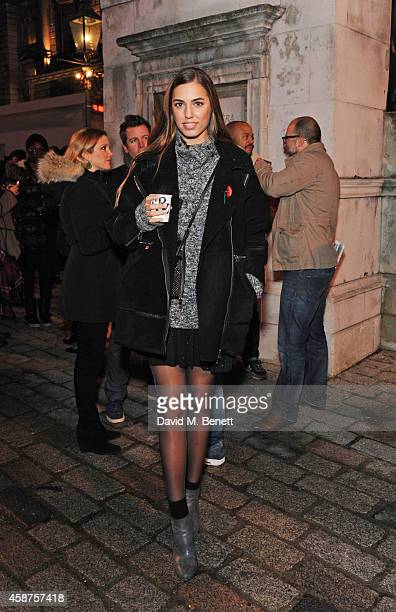 Amber Le Bon attends the opening party of Skate at Somerset House with Fortnum Mason at Somerset House on November 10 2014 in London England The...