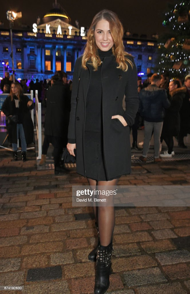 Amber Le Bon attends the opening party of Skate at Somerset House with Fortnum & Mason on November 14, 2017 in London, England. London's favourite festive destination opens at Somerset House on Wednesday 15th November and runs until Sunday 14th January 2018.