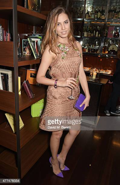 Amber Le Bon attends the Red Magazine dinner in honour of Yasmin Le Bon at Bulgari Hotel on June 17 2015 in London England