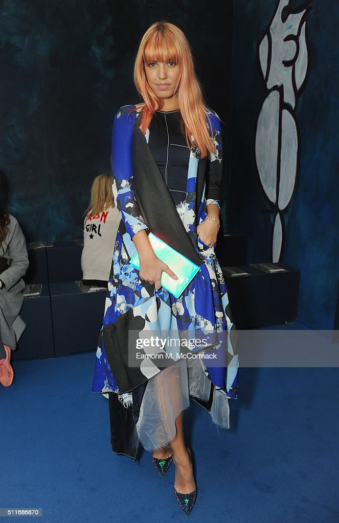 Amber Le Bon attends the Roksanda show during London Fashion Week Autumn/Winter 2016/17 at on February 22, 2016 in London, England.