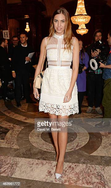 Amber Le Bon attends the Sass Bide A/W Show during London Fashion Week Fall/Winter 2015/16 at Australia House on February 20 2015 in London England