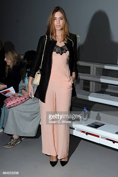 Amber Le Bon attends the SIBLING show during London Fashion Week Fall/Winter 2015/16 at on February 21 2015 in London England